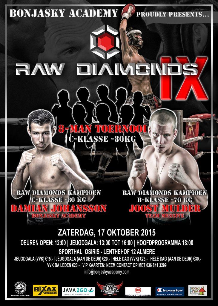 Raw Diamonds 9 Flyer - Formaat A5